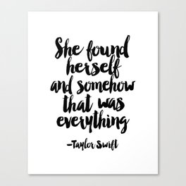 Quote,Swift Quote,Typography Print,Pardon My French,Inspirational Quote,Wall Art,Girls Room Canvas Print