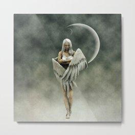 White divine angel Metal Print