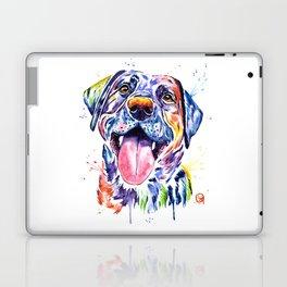 Black Lab Colorful Watercolor Pet Portrait Painting Laptop & iPad Skin
