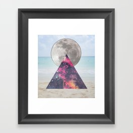 cosmic beach Framed Art Print