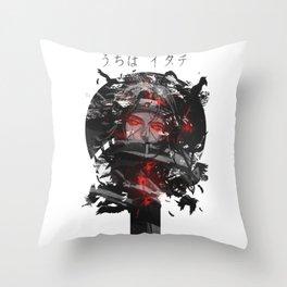 Uchiha Akatsuki Dark Monochrome Throw Pillow