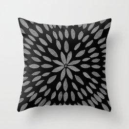 Mandala Flower #2 #silver #drawing #decor #art #society6 Throw Pillow