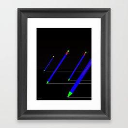 the pencil race 4000 Framed Art Print