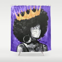 Naturally Queen II PURPLE Shower Curtain