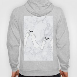You girls are so pretty, you should smile Marble Hoody