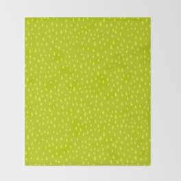 Lime Paint Drops Throw Blanket