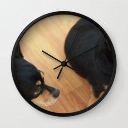 Charlie and Lucie Wall Clock