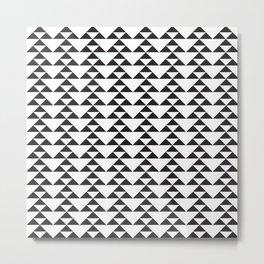 Triangle Motif - B&W Metal Print