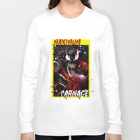 carnage Long Sleeve T-shirts featuring Maximum Carnage by JHC Studio