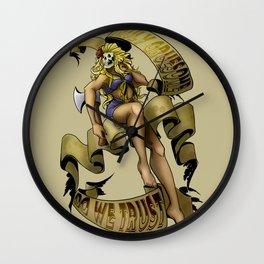 Beauty & Psycho Wall Clock