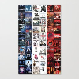 Albums de Rap français - Drapeau tricolore Canvas Print