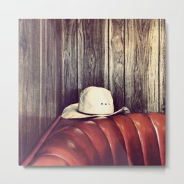 You Left Your Hat Metal Print