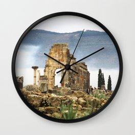 Meknes, Morocco Ancient Architecture Wall Clock