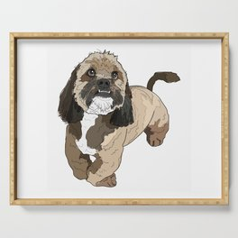 Lhasa Apso Dog Serving Tray