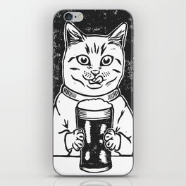 Thirsty Cat iPhone Skin