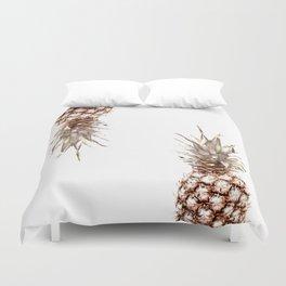 Two pineapples Duvet Cover