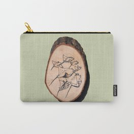 Devil Ray Wood Slice Carry-All Pouch