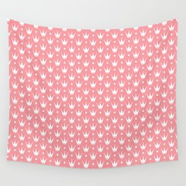 Princess pink with Tiaras. Wall Tapestry