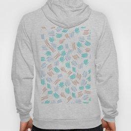 Modern pastel brown teal watercolor brushstrokes pattern Hoody