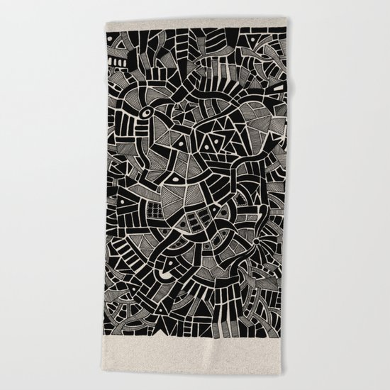 - modern - Beach Towel