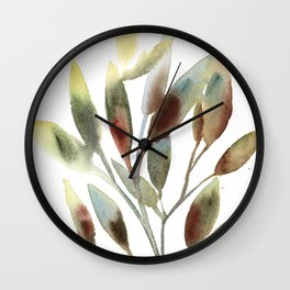 Leaves branch Wall Clock
