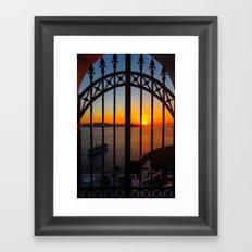 Gorgeous sunset Framed Art Print