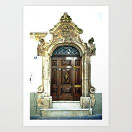 Italian door Art Print