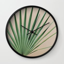Peachy Palm with Stem Wall Clock