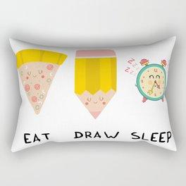 Eat, Draw, Sleep Rectangular Pillow