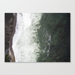 Where the Seaweed Meets the Coast     Drone Photography Canvas Print