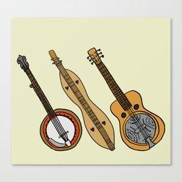 Banjo, Dulcimer, Resonator Canvas Print