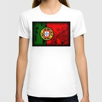 portugal T-shirts featuring circuit board Portugal (Flag) by seb mcnulty