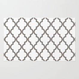 Moroccan Quatrefoil Pattern: Neutral Brown Rug