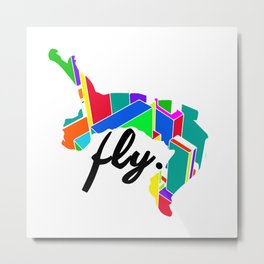 Fly Parkour Metal Print