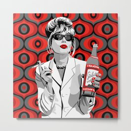 Absolutely Fabulous: Patsy Stone Metal Print