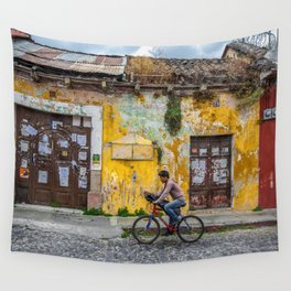 Antigua by bicycle Wall Tapestry