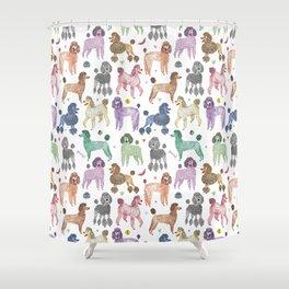 Poodles by Veronique de Jong Shower Curtain
