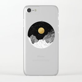 Moon and Stars Clear iPhone Case