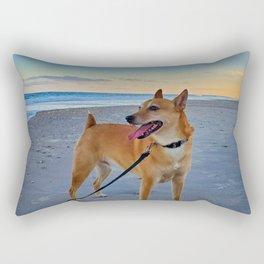 Dog days at the Beach Rectangular Pillow