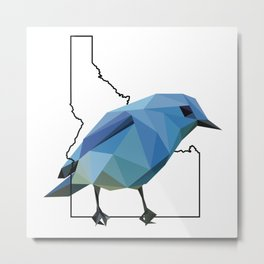 Idaho – Mountain Bluebird Metal Print