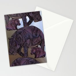 Hippos Stationery Cards