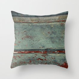 Boat Wood Paint Texture Cornwall Throw Pillow