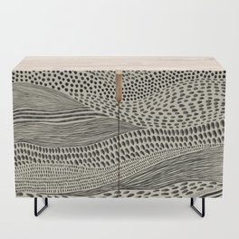 Hand Drawn Patterned Abstract II Credenza