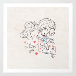 Couple Love Art Print