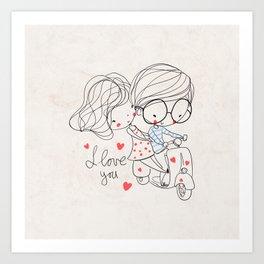 Couple Love Art Print