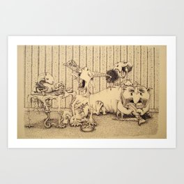 Feasting On Friends Art Print
