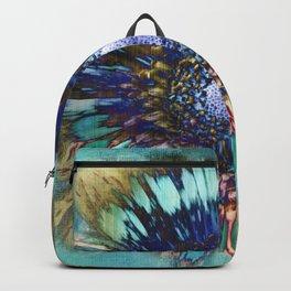 TURQUOISE AMANDA FLOWER PRINT Backpack