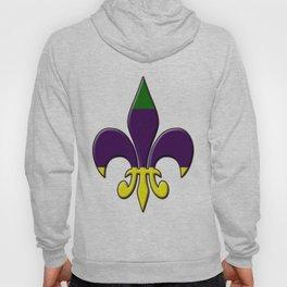 Fleur de lis ...purple, green and gold Hoody