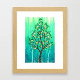 Peach Tree Framed Art Print