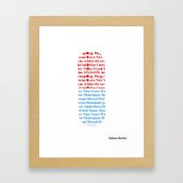 Brave New Pill Framed Art Print